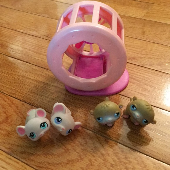 littlest pet shop Other - Littlest pet shop hamsters and mice with wheel